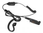 Однопроводная гарнитура Hytera EHN26 с С-образным наушником, встроенным микрофоном, PTT для р/ ст PD6X (EHN26)