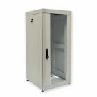 """Шкаф напольный EVOLINE 19""""32U600x600 передняя дверь одностворчатая стекло с металлической рамой слева и справа, задняя дв .... (EVL32U6060_M2_L_SGFCMR_F)"""