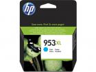 Картридж Cartridge HP 953XL повышенной емкости, для OJP 8710/8720/8730/8210, синий (1600 стр.) (F6U16AE)