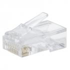 Вилка-коннектор RJ-45 GREENACCESSORIES GA-PLUG5WG категория 5e UTP для многожильного кабеля, 8p8c позол. конт. (100 шт.) .... (GA-PLUG5WG)