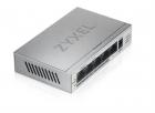 Коммутатор Zyxel GS1005HP, 5xGE (4xPoE+), настольный, металлический, бесшумный, бюджет PoE 60 Вт