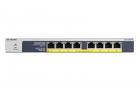 """Коммутатор NETGEAR 8 портов POE+ 10/100/1000 Мбит/с с внешним блоком питания ( возможность монтажа в 19"""" стойку), PoE-бю .... (GS108PP-100EUS)"""