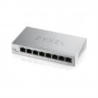 Zyxel Smart коммутатор GS1200-8, 8xGE, настольный, бесшумный, с поддержкой VLAN, IGMP, QoS и Link Aggregation (GS1200-8-EU0101F)