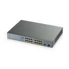 Коммутатор Zyxel GS1300-18HP, 17xGE (16xPoE+), 1xSFP, бюджет PoE 170 Вт, дальность передачи питания до 250 м, повышенная .... (GS1300-18HP-EU0101F)