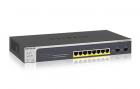 NETGEAR Управляемый гигабитный Smart-коммутатор на 8GE+2SFP портов (из них 8GE портов с PoE+) , PoE бюджет до 75 Вт (GS510TLP-100EUS)