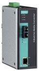 Промышленный конвертер Ethernet 10/ 100BaseTX в 100BaseFX (одномодовое оптоволокно, разъем SC), релейный выход (IMC-101-S-SC)