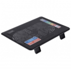 "Подставка для ноутбука STM IP23 STM Laptop Cooling IP23 Black (17, 3"""", 2x(125x125), plastic+metal mesh) (IP23)"