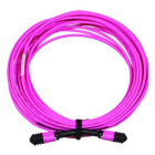 Сборка кабельная MPO-MPO, 12 волокон OM4, тип B (Key Up-Key Up), низкие потери, LSZH, 3 м, розовая (LAN-12M-12M/OM4B-3.0)