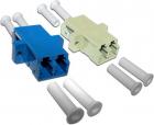 Адаптер оптический LANMASTER LC, SM, корпус SC, дуплексный (LAN-2LC/S-AM-SM)