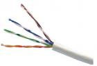 Кабель LANMASTER патч-кордовый UTP, 4x2, кат 5E, 350Mhz, PVC, белый, 305 м (LAN-5EUTP-PT-WH)