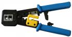 Обжимной инструмент для коннекторов типа EZ, 4P, 6P, 8P, с храповым механизмом (LAN-CRI-468R/ EZ)