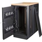 Шкаф LANMASTER SOUNDPROOF звукоизолированный 24U 750x1130 мм, отделка под дерево, цвет лиственница (LAN-DC-CBSP-24U-WD)