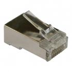 Коннектор RJ45 тип EZ, 8P8C, STP, Cat.5e, универсальный, со вставкой, покрытие 50 микрон, 100 шт. (LAN-EZ45-8P8C/ S5E-100)