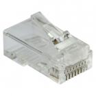 Коннектор RJ45 тип EZ, 8P8C, UTP, Cat.6, универсальный, со вставкой, покрытие 50 микрон, 100 шт. (LAN-EZ45-8P8C/ U6-100)