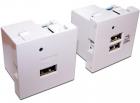 Модуль USB-зарядки, 2 порта, без шторки, 2.1A/ 5V, 45x45, белый (LAN-EZ45X45-2U/ R2-WH) (LAN-EZ45X45-2U/ R2-WH)