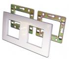 Рамка 2-постовая 45х45, с суппортами, белая (LAN-FRS45X45/ 2-WH)