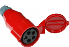 Вилка IEC 309 трехфазная, мама, 32A, 380V, разборная, красная (LAN-IEC-309-32A3P/ F) (LAN-IEC-309-32A3P/ F)