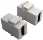 Модуль Keystone, HDMI, мама-мама, 180 градусов, белый (LAN-OK-HDMI-V-WH)