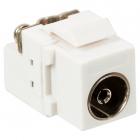 Модуль Keystone, TV-розетка, винтовое соединение, белый (LAN-OK-TV/ S-WH)