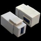 Модуль Keystone, USB 3.0, тип A, мама-мама, 90 градусов, белый (LAN-OK-USB30-AA/ V-WH)