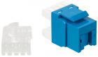 Модуль Keystone, RJ45, кат.5E, UTP, 180 градусов, со встроенной шторкой, синий (LAN-OK45U5E/ 180P-BL)