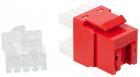 Модуль Keystone, RJ45, кат.5E, UTP, 180 градусов, со встроенной шторкой, красный (LAN-OK45U5E/ 180P-RD)
