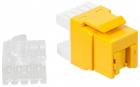 Модуль Keystone, RJ45, кат.5E, UTP, 180 градусов, со встроенной шторкой, желтый (LAN-OK45U5E/ 180P-YL)