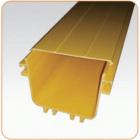 Крышка прямой секция оптического лотка, 100x120 мм, 2 метра, желтая (LAN-OT100X120-CVR)