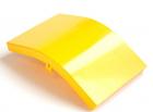 Крышка внешнего изгиба 45° оптического лотка 120 мм, желтая (LAN-OT120-EC45C)
