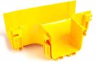 Т-соединитель оптического лотка 120 мм, монтаж без соединителей, желтый (LAN-OT120-ET/ NC)