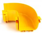 Горизонтальный поворот 90° оптического лотка 120 мм, монтаж без соединителей, желтый (LAN-OT120-HC90/ NC)