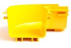Горизонтальный поворот 90° оптического лотка 120 мм, желтый (LAN-OT120-HC90)