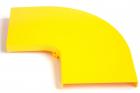 Крышка горизонтального поворота 90° оптического лотка 120 мм, желтая (LAN-OT120-HC90C)