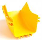 Внутренний изгиб 45° оптического лотка 120 мм, желтый (LAN-OT120-IC45)