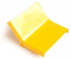Крышка внутреннего изгиба 45° оптического лотка 120 мм, желтая (LAN-OT120-IC45C)
