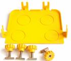 Торцевая заглушка оптического лотка 120 мм, желтая (LAN-OT120-ND)