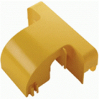 Спуск кабельный под лоток 120 мм с крышкой, желтый (LAN-OT120-OB)