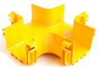 Х-соединитель оптического лотка 120 мм, монтаж без соединителей, желтый (LAN-OT120-XT/ NC)