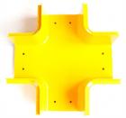 Х-соединитель оптического лотка 120 мм, желтый (LAN-OT120-XT)