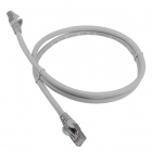 Патч-корд LANMASTER LSZH FTP кат.6A, 10 м, серый (LAN-PC45/ S6A-10-GY)
