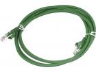 Патч-корд LANMASTER LSZH UTP кат.5e, 0.5 м, зеленый (LAN-PC45/ U5E-0.5-GN)