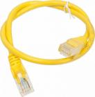 Патч-корд LANMASTER LSZH UTP кат.5e, 0.5 м, желтый (LAN-PC45/ U5E-0.5-YL)
