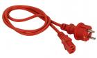 Шнур питания C13-Schuko прямая, 3х0.75, 220В, 10А, красный, 2 метра (LAN-PP13/ SH-2.0-RD)