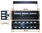 Патч-панель LANMASTER настенная с фронтальным монтажом 12 портов, UTP, кат.5E (LAN-PPF12U5E/ W)