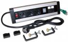 Блок розеток: 3 эл. модуля, 2 USB модуля, 2 порта кат.6 (LAN-WA-DC/ 3G+2UC+2C6)