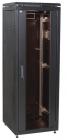 """ITK Шкаф сетевой 19"""" LINEA N 42U 600х800 мм стеклянная передняя дверь, задняя металлическая черный (LN05-42U68-GM)"""