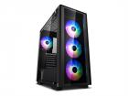 Корпус Deepcool MATREXX 50 ADD-RGB 4F без БП, боковое окно (закаленное стекло), 3xRGB LED 120мм вентилятора спереди и 1x .... (MATREXX 50 ADD-RGB 4F)