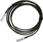 Кабель медный пассивный, QSFP+ Mellanox® Passive Copper cable, IB EDR, up to 100Gb/ s, QSFP28, 3m, Black, 26AWG (MCP1600-E003E26)
