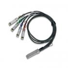 Медный твинаксиальный кабель Mellanox® passive copper hybrid cable, ETH 100GbE to 4x25GbE, QSFP28 to 4xSFP28, 3m, Colore .... (MCP7F00-A003R26N)