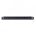 Металлическая панель 1U для установки информационных розеток 1U 24-port empty WireNET Panel, Black (NN-UNIV-E)
